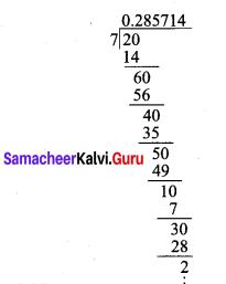 Samacheer Kalvi 9th Maths Chapter 2 Real Numbers Ex 2.2 1