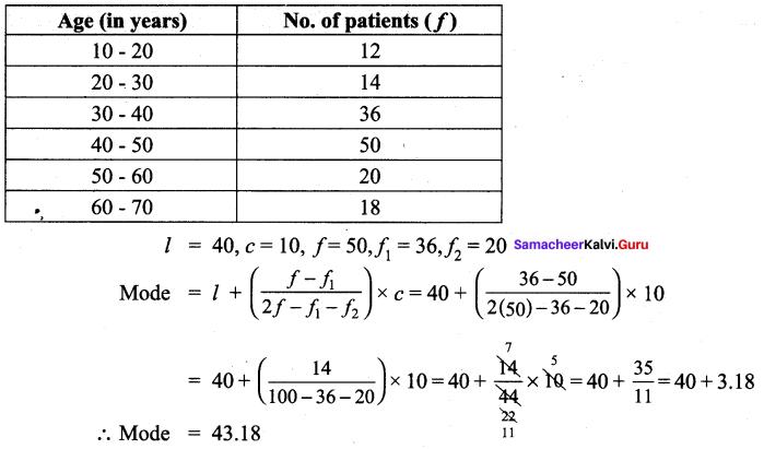 Samacheer Kalvi 9th Maths Chapter 8 Statistics Additional Questions 63
