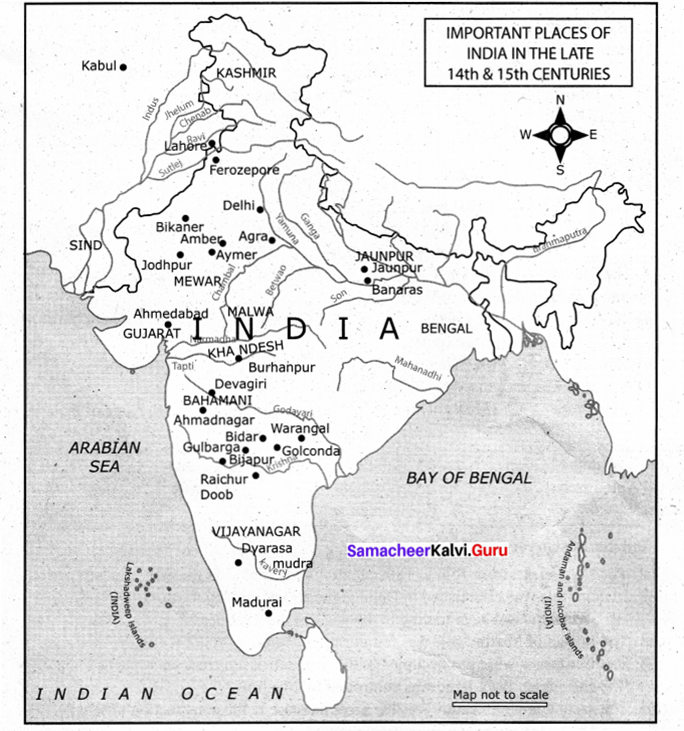 Samacheer Kalvi 9th Social Science History Solutions Chapter 7 State and Society in Medieval India 2