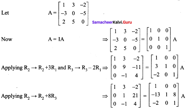 Samacheer Kalvi 12th Maths Solutions Chapter 1 Applications of Matrices and Determinants Ex 1.2 133