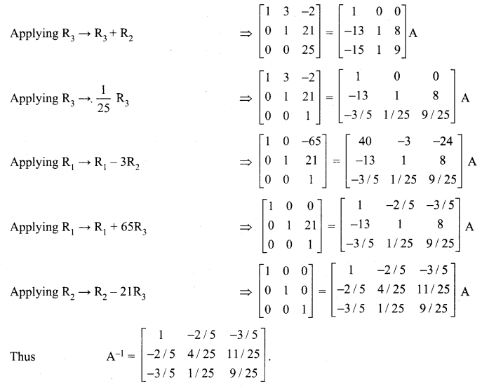 Samacheer Kalvi 12th Maths Solutions Chapter 1 Applications of Matrices and Determinants Ex 1.2 14