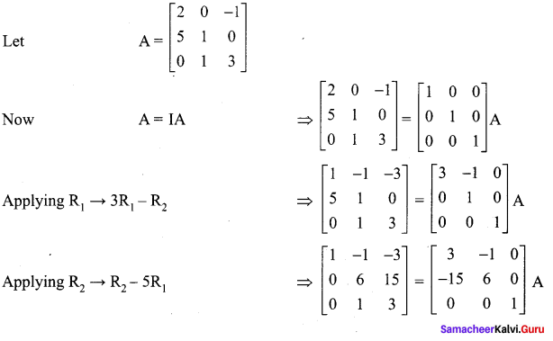 Samacheer Kalvi 12th Maths Solutions Chapter 1 Applications of Matrices and Determinants Ex 1.2 15