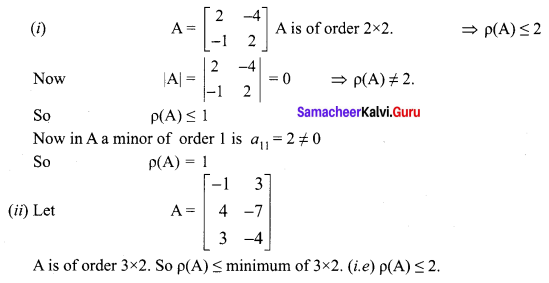 Samacheer Kalvi 12th Maths Solutions Chapter 1 Applications of Matrices and Determinants Ex 1.2 Q1.2