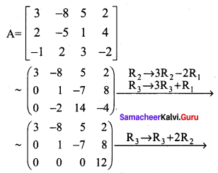 Samacheer Kalvi 12th Maths Solutions Chapter 1 Applications of Matrices and Determinants Ex 1.2 Q2.3