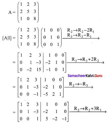 Samacheer Kalvi 12th Maths Solutions Chapter 1 Applications of Matrices and Determinants Ex 1.2 Q3.4