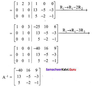 Samacheer Kalvi 12th Maths Solutions Chapter 1 Applications of Matrices and Determinants Ex 1.2 Q3.5
