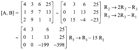 Samacheer Kalvi 12th Maths Solutions Chapter 1 Applications of Matrices and Determinants Ex 1.5 1