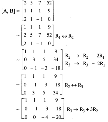 Samacheer Kalvi 12th Maths Solutions Chapter 1 Applications of Matrices and Determinants Ex 1.5 5