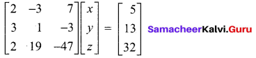 Samacheer Kalvi 12th Maths Solutions Chapter 1 Applications of Matrices and Determinants Ex 1.5 9