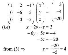 Samacheer Kalvi 12th Maths Solutions Chapter 1 Applications of Matrices and Determinants Ex 1.5 Q1.1