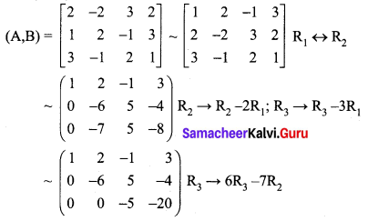 Samacheer Kalvi 12th Maths Solutions Chapter 1 Applications of Matrices and Determinants Ex 1.5 Q1