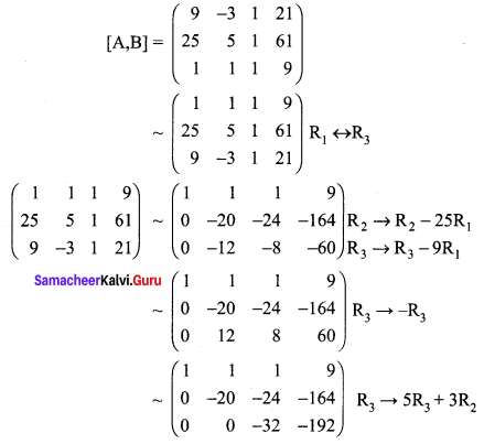 Samacheer Kalvi 12th Maths Solutions Chapter 1 Applications of Matrices and Determinants Ex 1.5 Q2