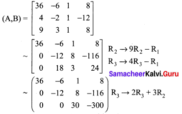 Samacheer Kalvi 12th Maths Solutions Chapter 1 Applications of Matrices and Determinants Ex 1.5 Q4