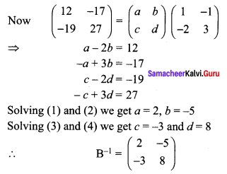Samacheer Kalvi 12th Maths Solutions Chapter 1 Applications of Matrices and Determinants Ex 1.8 Q10.2