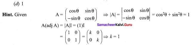 Samacheer Kalvi 12th Maths Solutions Chapter 1 Applications of Matrices and Determinants Ex 1.8 Q15.1