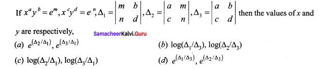 Samacheer Kalvi 12th Maths Solutions Chapter 1 Applications of Matrices and Determinants Ex 1.8 Q19