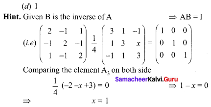 Samacheer Kalvi 12th Maths Solutions Chapter 1 Applications of Matrices and Determinants Ex 1.8 Q24.1
