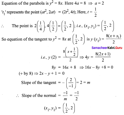 Samacheer Kalvi 12th Maths Solutions Chapter 5 Two Dimensional Analytical Geometry - II Ex 5.4 3