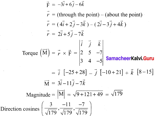 Samacheer Kalvi 12th Maths Solutions Chapter 6 Applications of Vector Algebra Ex 6.1 19