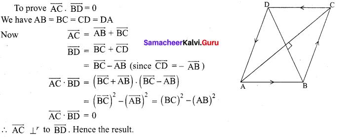 Samacheer Kalvi 12th Maths Solutions Chapter 6 Applications of Vector Algebra Ex 6.1 6