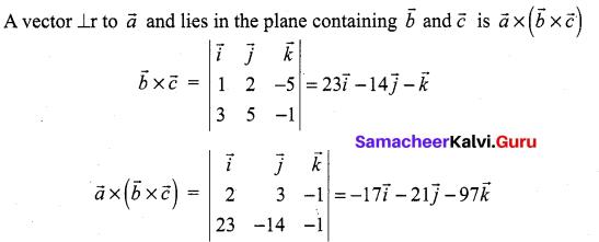 Samacheer Kalvi 12th Maths Solutions Chapter 6 Applications of Vector Algebra Ex 6.10 20