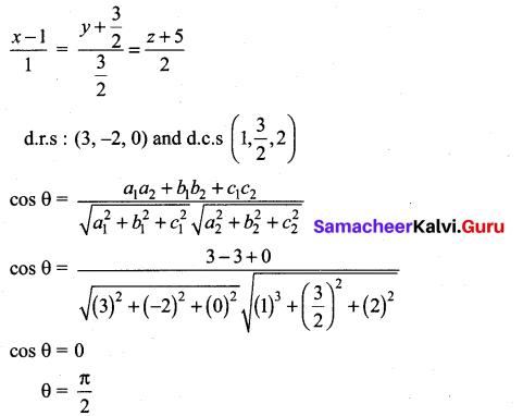 Samacheer Kalvi 12th Maths Solutions Chapter 6 Applications of Vector Algebra Ex 6.10 24