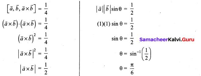 Samacheer Kalvi 12th Maths Solutions Chapter 6 Applications of Vector Algebra Ex 6.10 8
