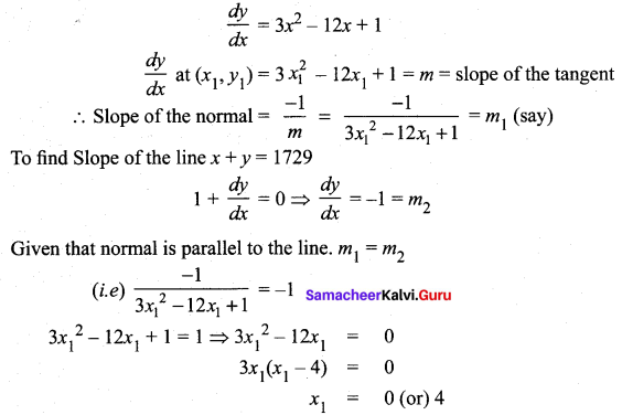 Samacheer Kalvi 12th Maths Solutions Chapter 7 Applications of Differential Calculus Ex 7.2 3