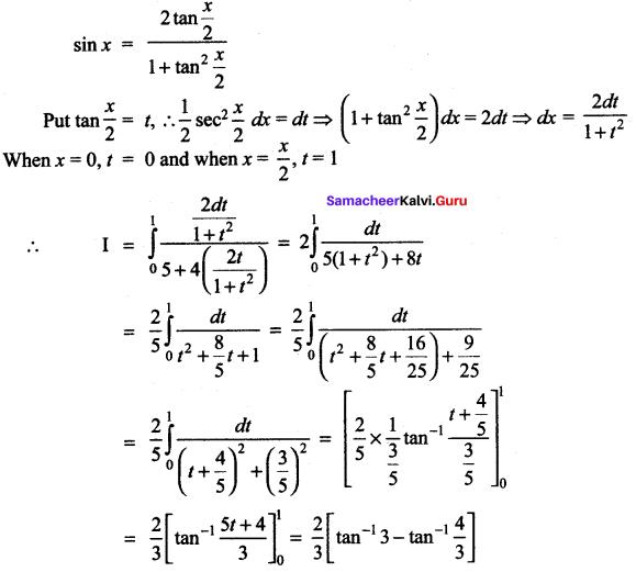 Samacheer Kalvi 12th Maths Solutions Chapter 9 Applications of Integration Ex 9.4 20