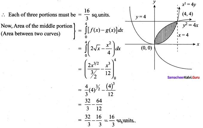 Samacheer Kalvi 12th Maths Solutions Chapter 9 Applications of Integration Ex 9.8 10