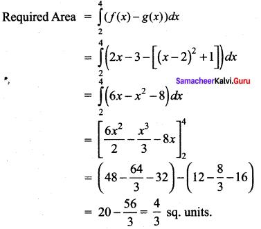 Samacheer Kalvi 12th Maths Solutions Chapter 9 Applications of Integration Ex 9.8 14