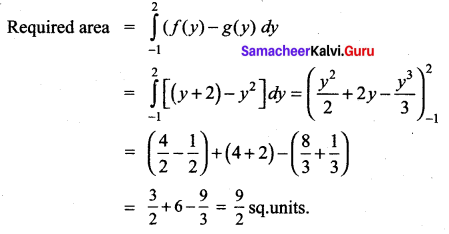 Samacheer Kalvi 12th Maths Solutions Chapter 9 Applications of Integration Ex 9.8 18