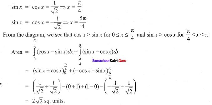 Samacheer Kalvi 12th Maths Solutions Chapter 9 Applications of Integration Ex 9.8 7