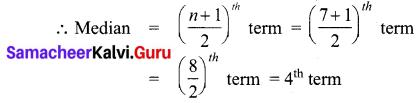 Samacheer Kalvi 7th Maths Solutions Term 3 Chapter 5 Statistics Ex 5.3 1