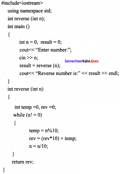 Samacheer Kalvi 11th Computer Science Solutions Chapter 11 Functions