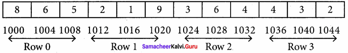 Samacheer Kalvi 11th Computer Science Solutions Chapter 12 Arrays and Structures
