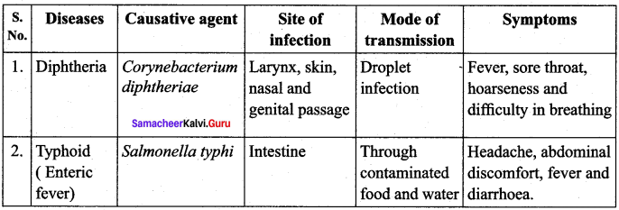 Samacheer Kalvi 12th Bio Zoology Solutions Chapter 7 Human Health and Diseases