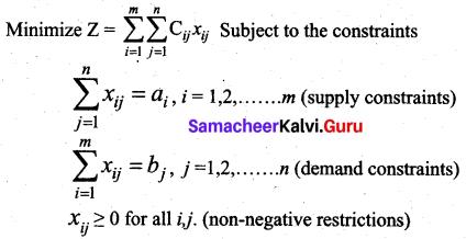 Samacheer Kalvi 12th Business Maths Solutions Chapter 10 Operations Research Ex 10.1 2