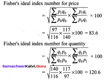 Samacheer Kalvi 12th Business Maths Solutions Chapter 9 Applied Statistics Additional Problems III Q1.2