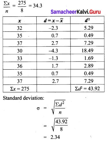 Samacheer Kalvi 10th Maths Chapter 8 Statistics and Probability Ex 8.1 4