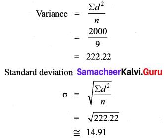 Samacheer Kalvi 10th Maths Chapter 8 Statistics and Probability Ex 8.1 6