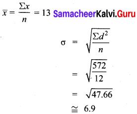 Samacheer Kalvi 10th Maths Chapter 8 Statistics and Probability Ex 8.1 8