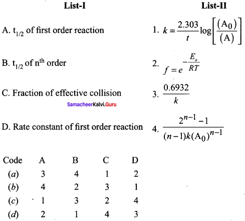 Samacheer Kalvi 12th Chemistry Solutions Chapter 7 Chemical Kinetics-63