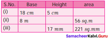 Samacheer Kalvi 7th Maths Solutions Term 1 Chapter 2 Measurements Ex 2.1 2