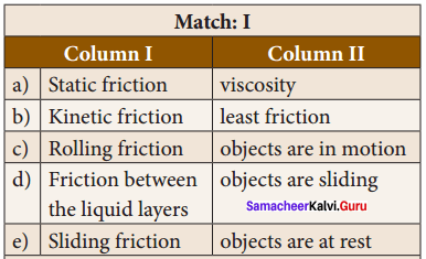 Samacheer Kalvi 8th Science Solutions Term 1 Chapter 2 Forces and Pressure 1
