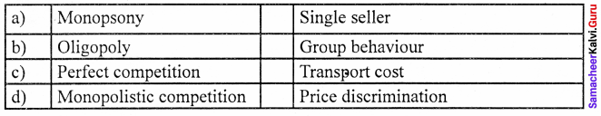 Samacheer Kalvi 11th Economics Solutions Chapter 5 Market Structure and Pricing 13