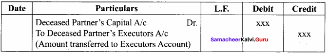 Samacheer Kalvi 12th Accountancy Solutions Chapter 6 Retirement and Death of a Partner 1