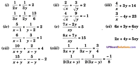 UP Board Solutions for Class 10 Maths Chapter 3 Pairs of Linear Equations in Two Variables img 71