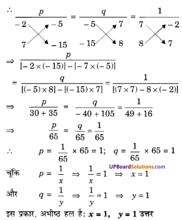 UP Board Solutions for Class 10 Maths Chapter 3 Pairs of Linear Equations in Two Variables img 80