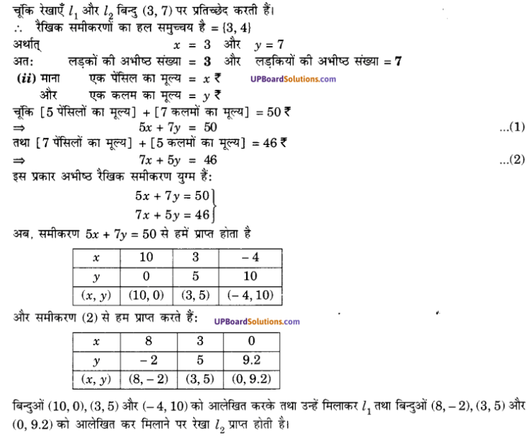 UP Board Solutions for Class 10 Maths Chapter 3 Pairs of Linear Equations in Two Variables img 9